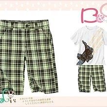 【B& G童裝】正品美國進口GYMBOREE Plaid Short綠色格子短褲10yrs