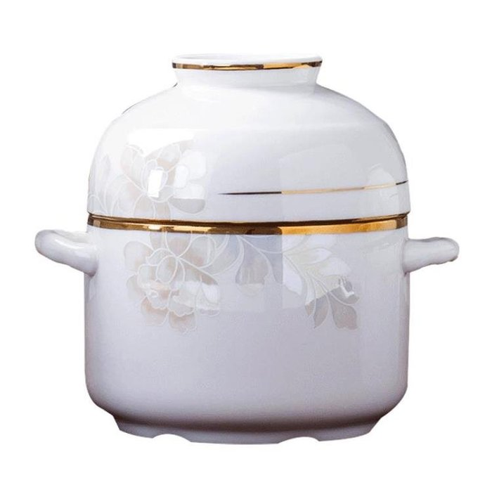 骨瓷燕窩燉盅陶瓷雙蓋隔水燉盅碗家用(可開立發票)
