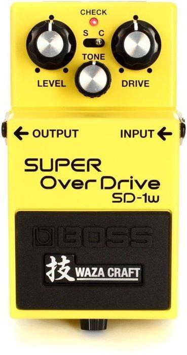 【六絃樂器】全新 Boss SD-1W 特別版 WazaCraft 破音效果器 / 現貨特價