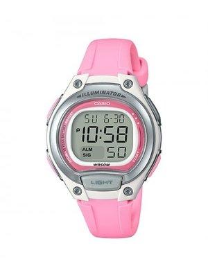 CASIO 卡西歐 多功能造型運動錶10年電力 LW-203-4A  LW-200 - 4B銀x粉紅 學生錶 兒童錶 基隆市