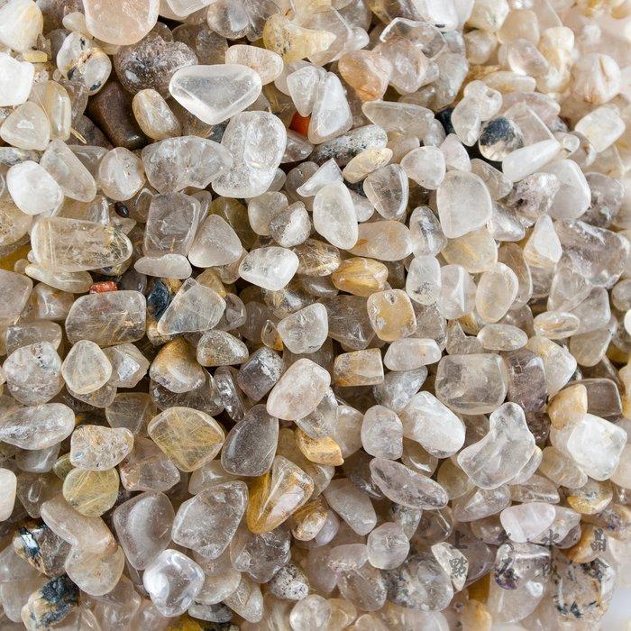 『上久水晶』【鈦晶碎石碎料】【每公斤200元】【10公斤1500元】【25公斤3500元】五行水晶碎石