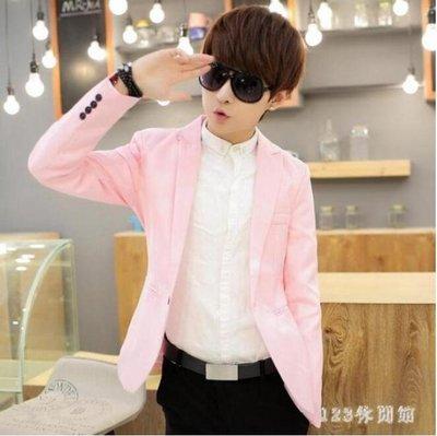 中大尺碼西裝外套 男士韓版修身英倫商務小西裝外套純色休閒學生西服上衣LB2093