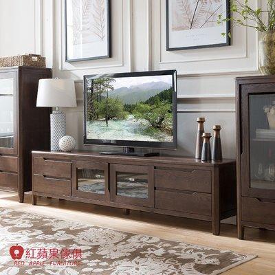 [紅蘋果傢俱]JM004 電視櫃 北歐風電視櫃 日式電視櫃 實木電視櫃 無印風 簡約風