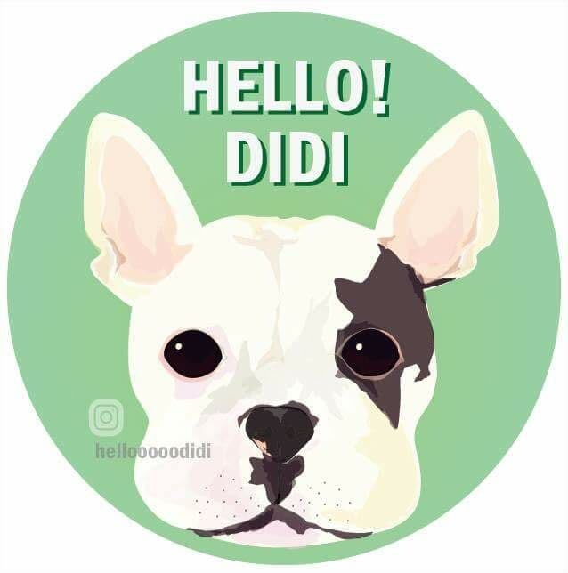 「HELLO DIDI」客製化寵物肖像 代客畫圖 貼紙 禮物 法鬥 獨一無二