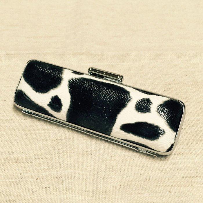 (印鑑達人)5分印章皮盒(乳牛紋)