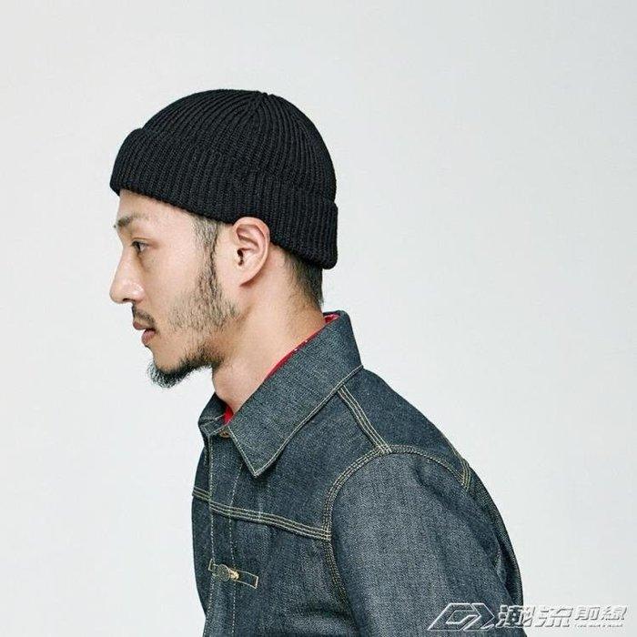 秋天韓國潮牌保暖水手原宿包套頭嘻哈男女瓜皮短款毛線針織冷帽子