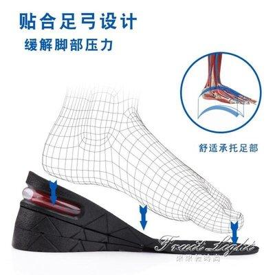 增高鞋墊內增高鞋墊運動減震隱形氣墊增高墊全墊半墊男女式女士3cm5cm7cm