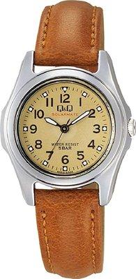 日本正版 CITIZEN 星辰 Q&Q H045-303 腕錶 女錶 女用 手錶 皮革錶帶 太陽能充電 日本代購