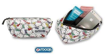 GIFT41 土城店 市伊瓏屋 OUTDOOR-Hello Kitty 聯名款-化妝包 ODKS130245WT