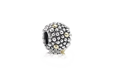 Pandora 絕版 925銀+14k 抽象的泡沫串飾