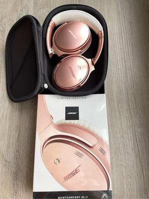 Bose QuietComfort 35 II QC35 無線藍芽降噪耳罩耳機 玫瑰金