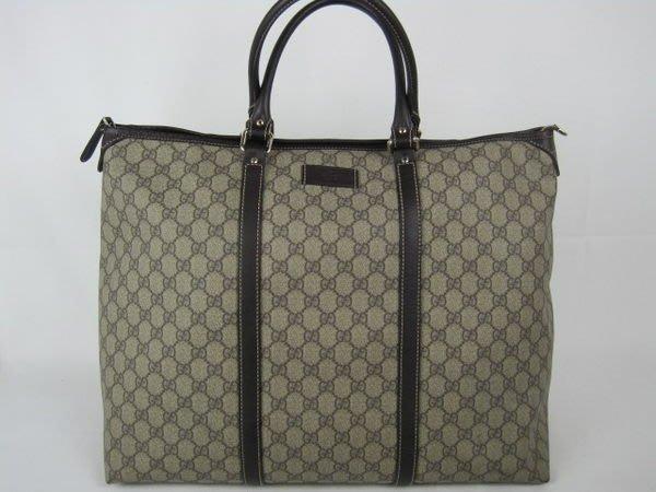 *旺角名店* Gucci pvc 新款咖啡色購物包 購物袋 超大容量側背包 手提包 旅行袋 [010201]