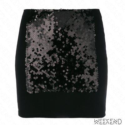 【WEEKEND】 PACO RABANNE 亮片 短裙 窄裙 迷你裙 黑色