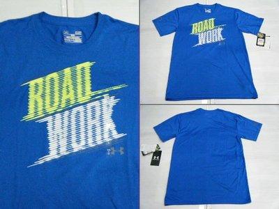新莊新太陽 UNDER ARMOUR 1243531 Road Work 短袖 T恤 黑 藍 2色 特780