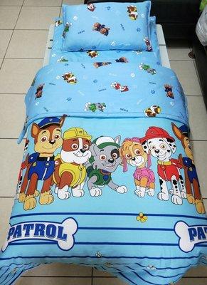 【現貨】汪汪隊100%純棉~ 兒童床墊+枕頭+鋪棉兩用被 ~ 被子、涼被  ~幼兒園必備!