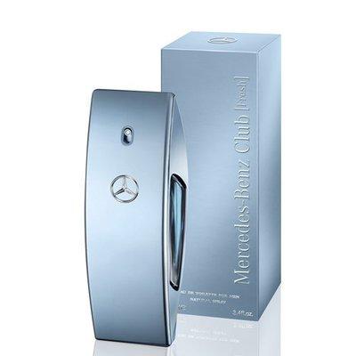 世紀香水廣場  Mercedes Benz 賓士 Club Fresh 自由藍調男性淡香水 5ml 空瓶分裝