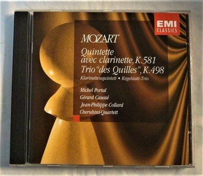 大咖聯演(EMI)Mozart: 豎笛五重奏、九柱球鋼琴三重奏/ Portal、Causse、Collard