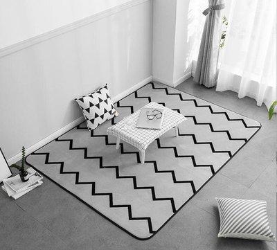 ZIHOPE 地毯 北歐風民宿簡約現代臥室滿鋪床邊毯客廳沙發茶幾地墊ZI812