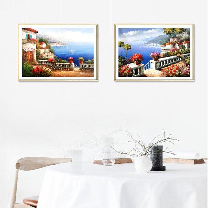 掛畫 壁畫 客廳裝飾畫沙發背景地中海風格臥室床頭餐廳掛畫現代簡約風景壁畫