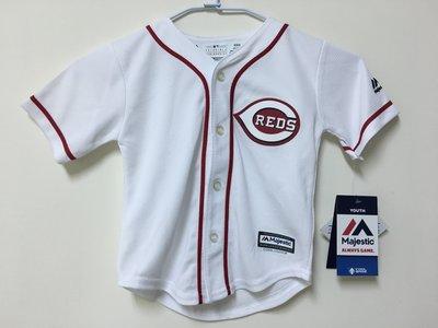 MLB 美國職棒大聯盟 辛辛那提紅人隊 白色 棒球衣 小童版 Majestic Cincinnati Reds