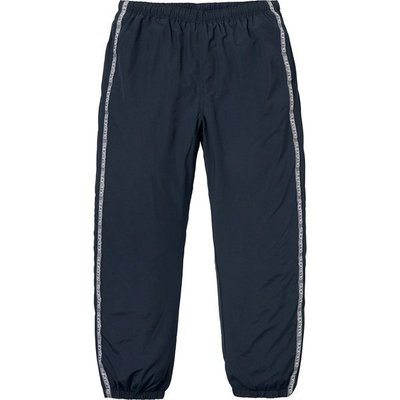 UNIQUE | 二手美品 18SS SUPREME TONAL TAPING TRACK PANT 深藍 運動褲