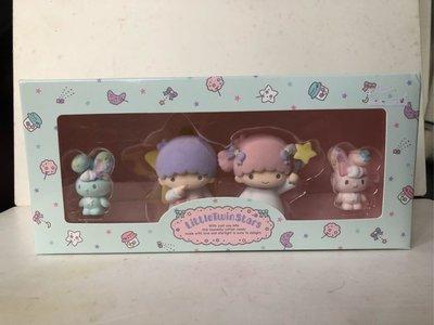 2017年 正版 Sanrio little twin stars 公仔擺設 box set