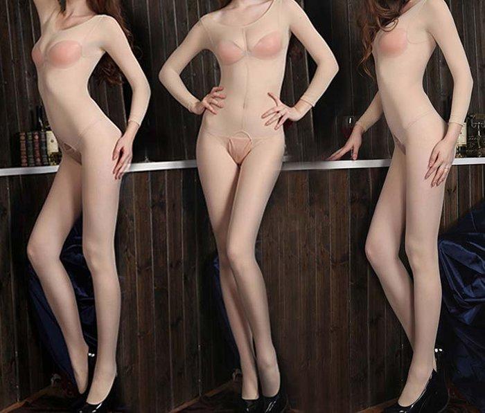 雙子夜 【S05】【性感透明高彈絲開襠連身絲襪衣】※男女適穿