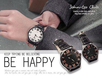 韓風MOMENT雅痞羅馬立體字對錶 夜光指針 直條紋層次中性大錶徑皮帶款 男錶女錶 ☆匠子工坊☆【UT0002】