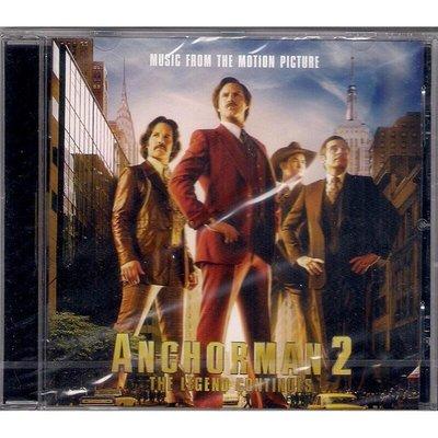 【全新未拆,免競標】Anchorman 2:The Legend Continues/ 銀幕大角頭2 電影原聲帶《歐版》