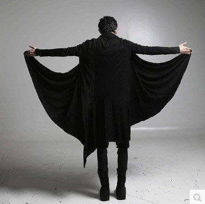 男防風外套秋季暗黑系男裝過膝長風衣巫師袍子黑暗魔法師斗篷大衣巫師外套夏風衣