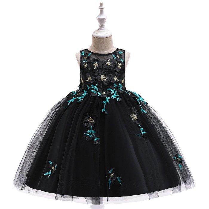•*~ 辣媽咪衣飾小舖 ~*•❤童裝系列❤K970490韓版大童夏款甜美清新時尚蓬蓬蕾絲亮片可愛公主禮服公主洋裝