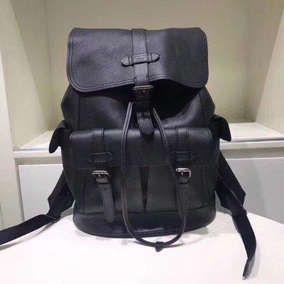 COACH 23202 Hudson Backpack 男士新款後背包 登山包 素面全皮 簡約時尚