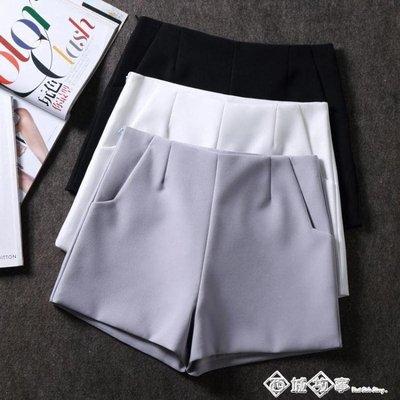 雪紡西裝短褲女夏季韓版闊腿外穿修身顯瘦熱褲休閒褲