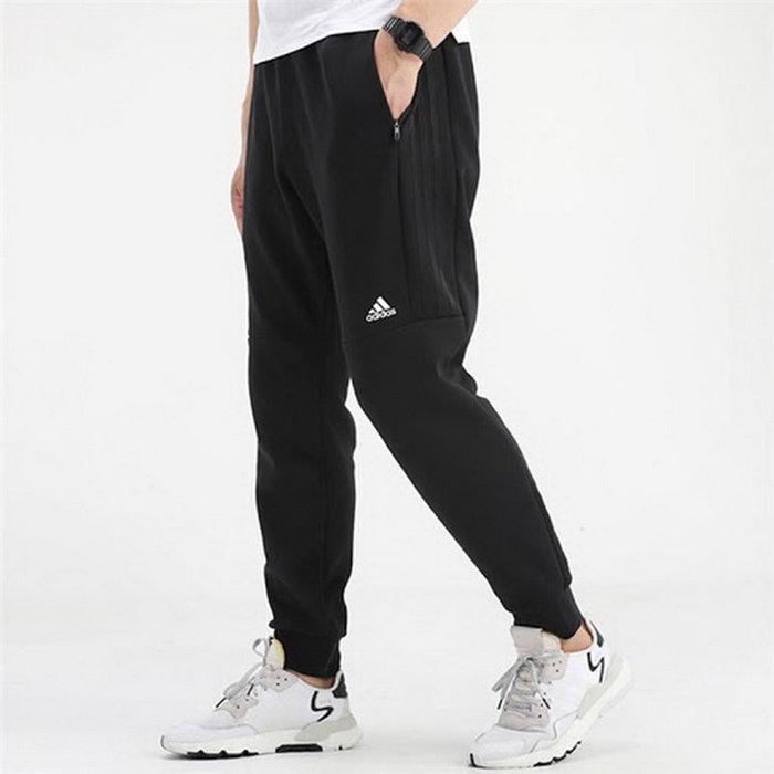 【Dr.Shoes 】Adidas MUST HAVES LWDK 運動長褲 縮口 側邊三線拼接 拉鍊側袋 GF3979