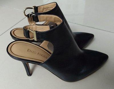 【搬家大清倉】全新Enzo Angiolini 黑小羊皮高跟鞋,尺寸5.5 小羊皮革鞋底橡膠。跟高約3.5吋,實量:最長約24.5公分最寬處7.5公分,尖頭款式