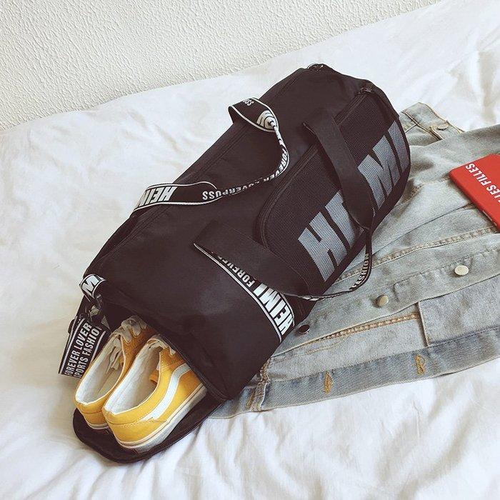 日系 港風 港味 韓版 時尚行李包女手提大容量旅游包短途旅行包登機包干濕分離運動健身包女