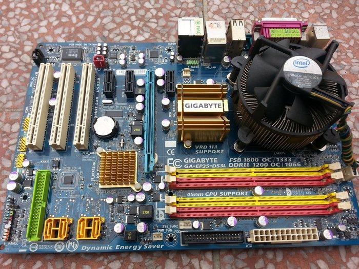 EP35-DS3L + Intel E6550 2.33Ghz 雙核心 +創見1G x2條 售780元