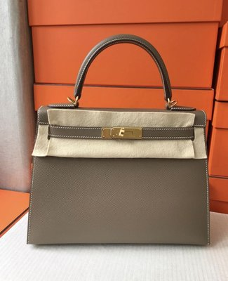 J-Shop Luxury 精品店 hermes 28cm kelly etoupe 大象灰 epsom 金釦D刻