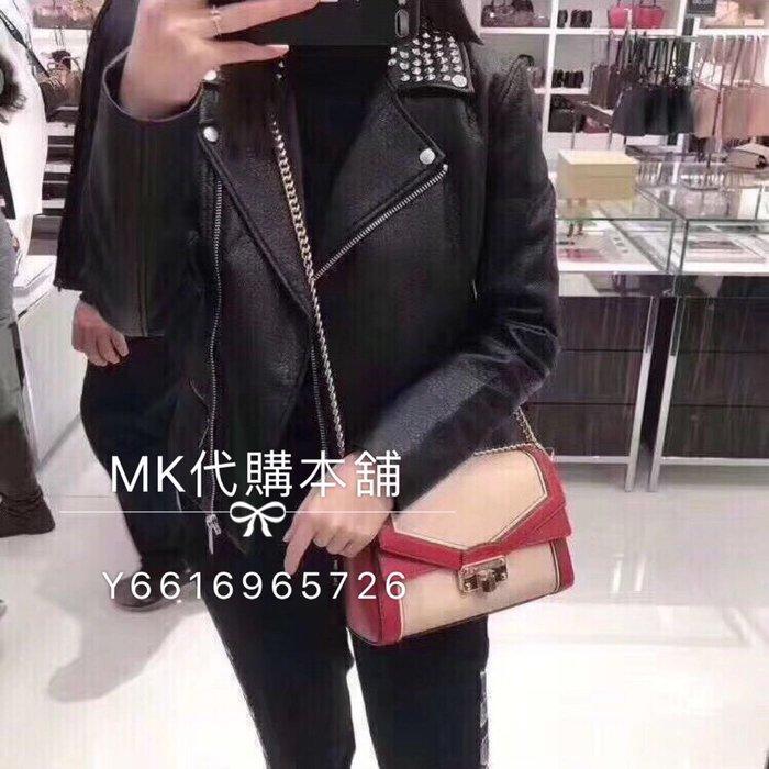 Michael kors MK 最新款  拼色  KINSLEY 雙鏈條  單肩  斜背包