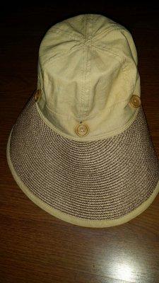 米色咖條紋帽56-60cm(  綠340),