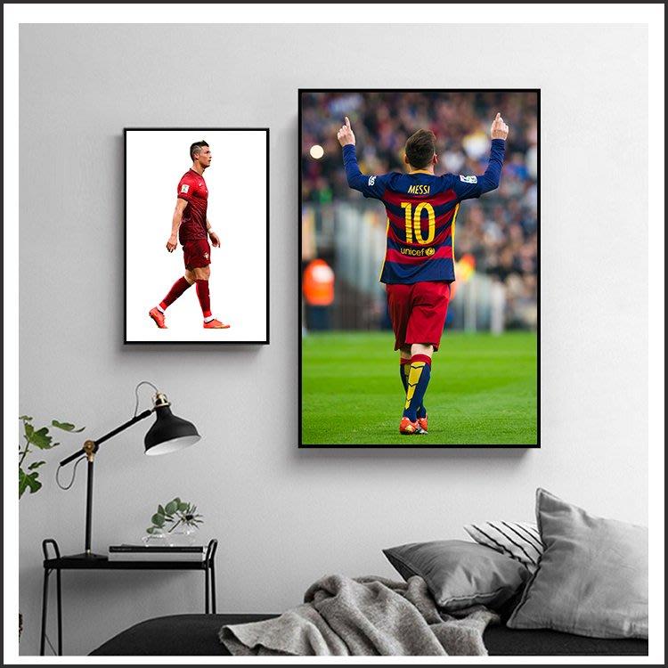 世足 梅西 Messi C羅 內馬爾 足球 皇馬 明星海報 藝術微噴 掛畫 嵌框畫 @Movie PoP 賣場多款海報#
