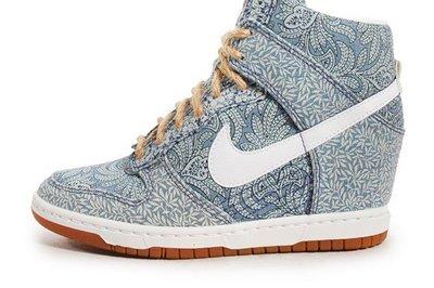 Nike WMNS Dunk Sky Hi LIB QS Blue Recall/Linen 藍/卡其 US 7 7.5