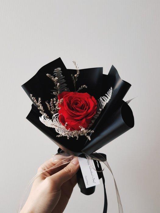 情人節│迷你花束│紅玫瑰永生花花束│乾燥花束│台北歡迎自取西門1號出口【Flower&House花藝之家】