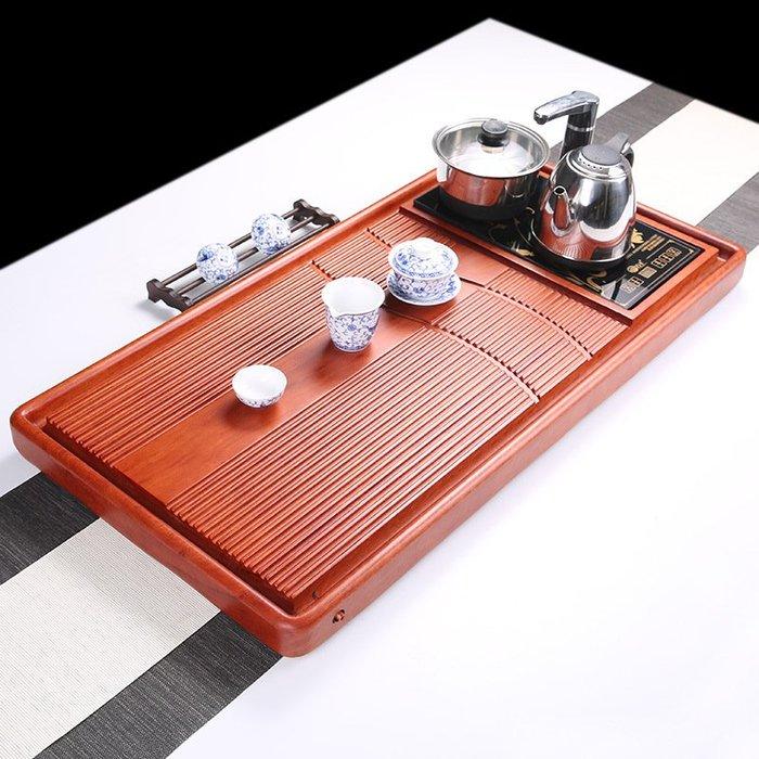 茶盤 大號花梨木茶盤雕刻茶盤家用 原木實木整塊養壺茶臺四合一P1042