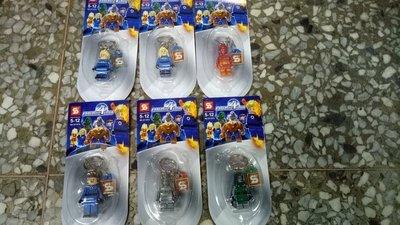 111玩具--SY積木----鑰匙圈公仔,,,一套六款特價120元