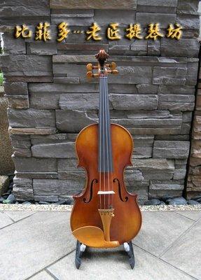 {亨德爾音樂-安畝提琴工作室} 老川料4/4手工製獨板小提琴-.仿古油性漆-超低價$49999