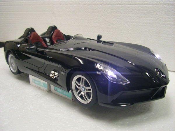 遙控車 1:12 原廠授權認證 Mercedes-Bens SLR (Z199) 遙控車(黑色)