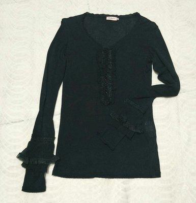 名牌 MAX&CO   黑色宮廷風長袖上衣