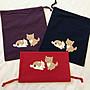 日本卡拉貓~貓與狗狗的秘密束口收納袋