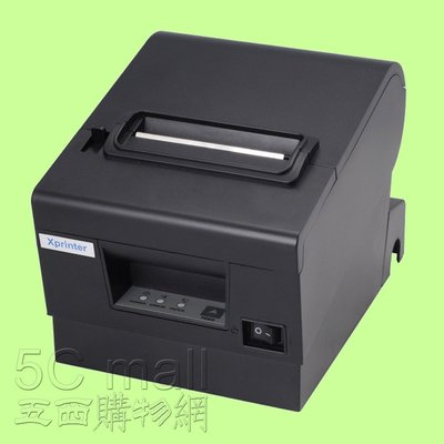 5Cgo【權宇】芯燁XP-D610熱敏印表機熱感紙小票據80mm廚房餐飲POS收銀機USB+網路+RS232+切刀 含稅